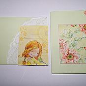 Открытки ручной работы. Ярмарка Мастеров - ручная работа открытка в конверте. Handmade.