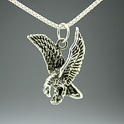Украшения handmade. Livemaster - original item 925 sterling silver pendant in the shape of a fish, eagle and scarab. Handmade.