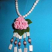 """Украшения ручной работы. Ярмарка Мастеров - ручная работа Колье """"Жемчужно-розовый вальс"""". Handmade."""