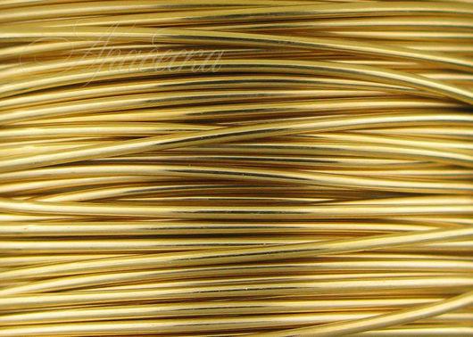 Проволока золотая Gold Filled полутвердая 0.64мм Beadsmith (США) 0.5м