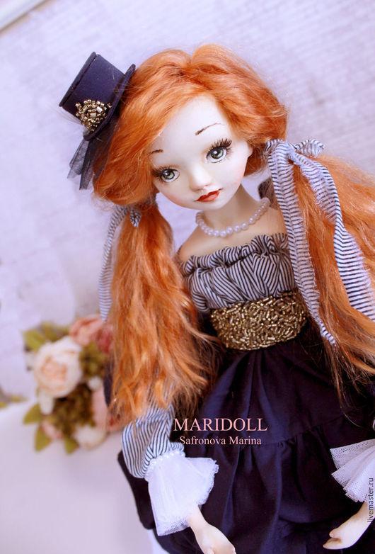 Коллекционные куклы ручной работы. Ярмарка Мастеров - ручная работа. Купить Людовика будуарная кукла. Handmade. Подарок девушке, пряжа