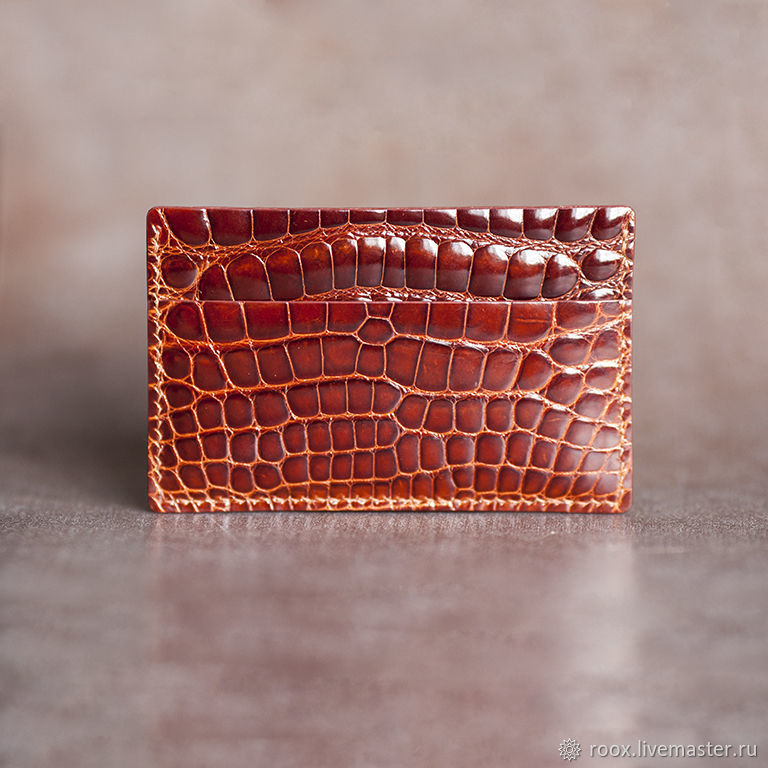 Copy of business card Holder crocodile leather, Business card holders, Moscow,  Фото №1