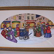 Картины и панно ручной работы. Ярмарка Мастеров - ручная работа Снег кружится. Handmade.