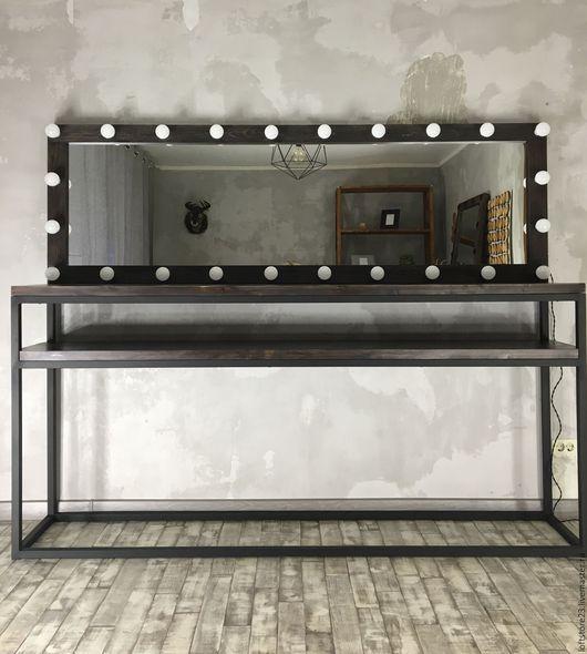 Мебель ручной работы. Ярмарка Мастеров - ручная работа. Купить Зеркало ESPRESSO и стол CALIFORNIA. Handmade. Коричневый, гримерное зеркало