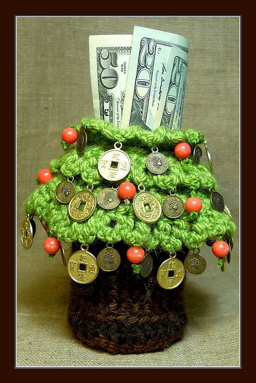 """Обереги, талисманы, амулеты ручной работы. Ярмарка Мастеров - ручная работа. Купить Мешочек """"Древо Изобилия"""". Handmade. Зеленый"""