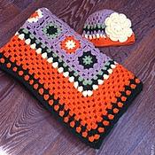 Для дома и интерьера ручной работы. Ярмарка Мастеров - ручная работа Плед и шапочка детские. Handmade.