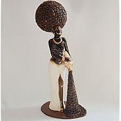 Для дома и интерьера ручной работы. Ярмарка Мастеров - ручная работа Эфиопка с кофе. Handmade.