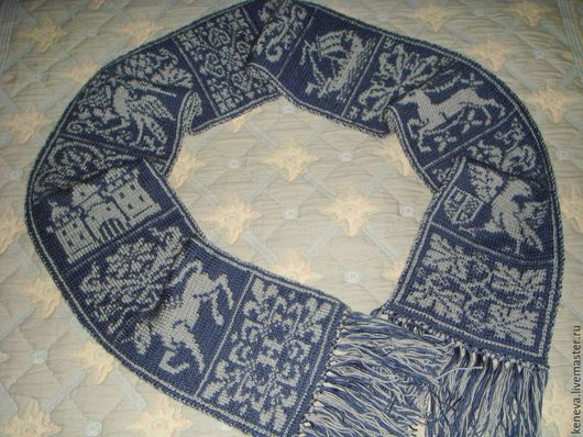 Шарфы и шарфики ручной работы. Ярмарка Мастеров - ручная работа. Купить Вязаный шарф Камелот. Handmade. Вязаный шарф, туман