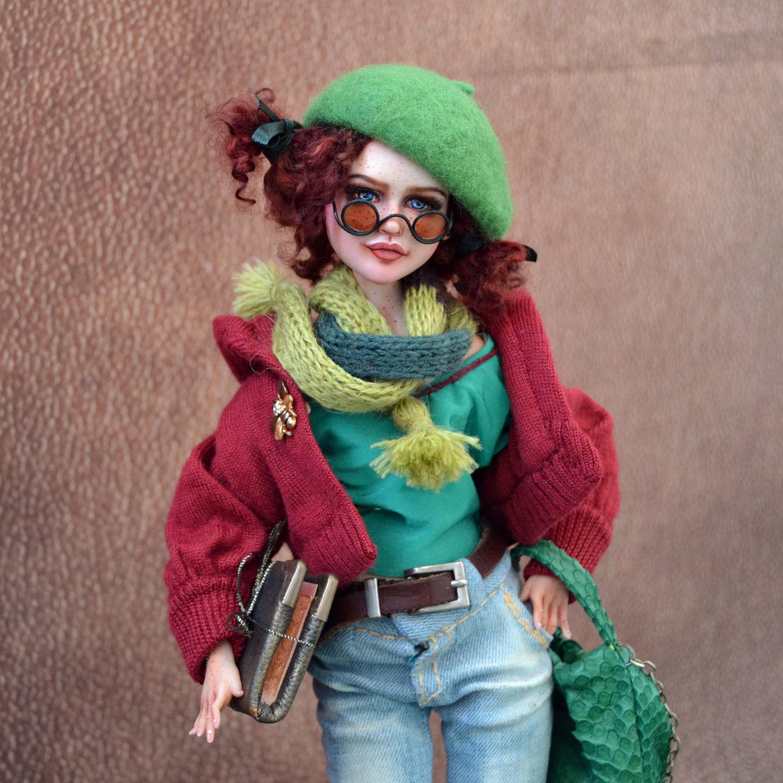 Авторская кукла Вита студентка. Подвижная кукла, Куклы и пупсы, Старый Оскол,  Фото №1