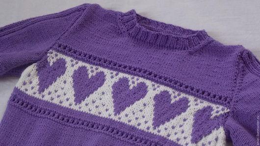 Пуловер на весну. Джемпер для девочки летний. Джемпер из хлопка.