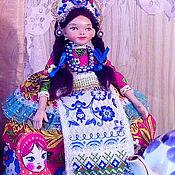 Народная кукла ручной работы. Ярмарка Мастеров - ручная работа Кукла-грелка на чайник. Handmade.