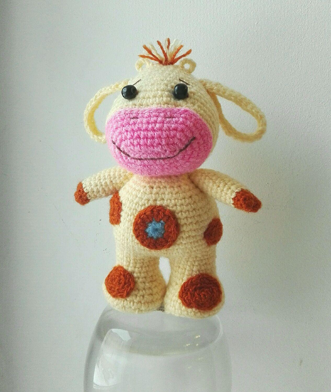 игрушки крючком схема корова