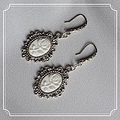 Субкультуры handmade. Livemaster - original item Earrings with cameos (rose). Handmade.