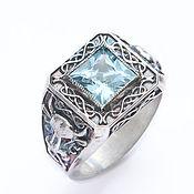 Украшения handmade. Livemaster - original item Silver male ring with aquamarine. Handmade.