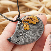 Pendants handmade. Livemaster - original item hedgehog. Brooch or pendant.. Handmade.