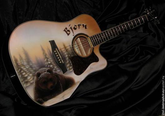 """Струнные инструменты ручной работы. Ярмарка Мастеров - ручная работа. Купить Гитара """"Bjorn"""". Handmade. Гитара, Декор, рисунок, гитара"""
