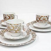 Винтаж handmade. Livemaster - original item Eschenbach Bavaria coffee trio. Handmade.