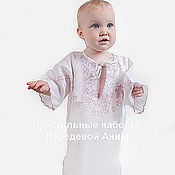 Работы для детей, handmade. Livemaster - original item Baptismal shirt Leaves 88r for 1-2 years. Handmade.