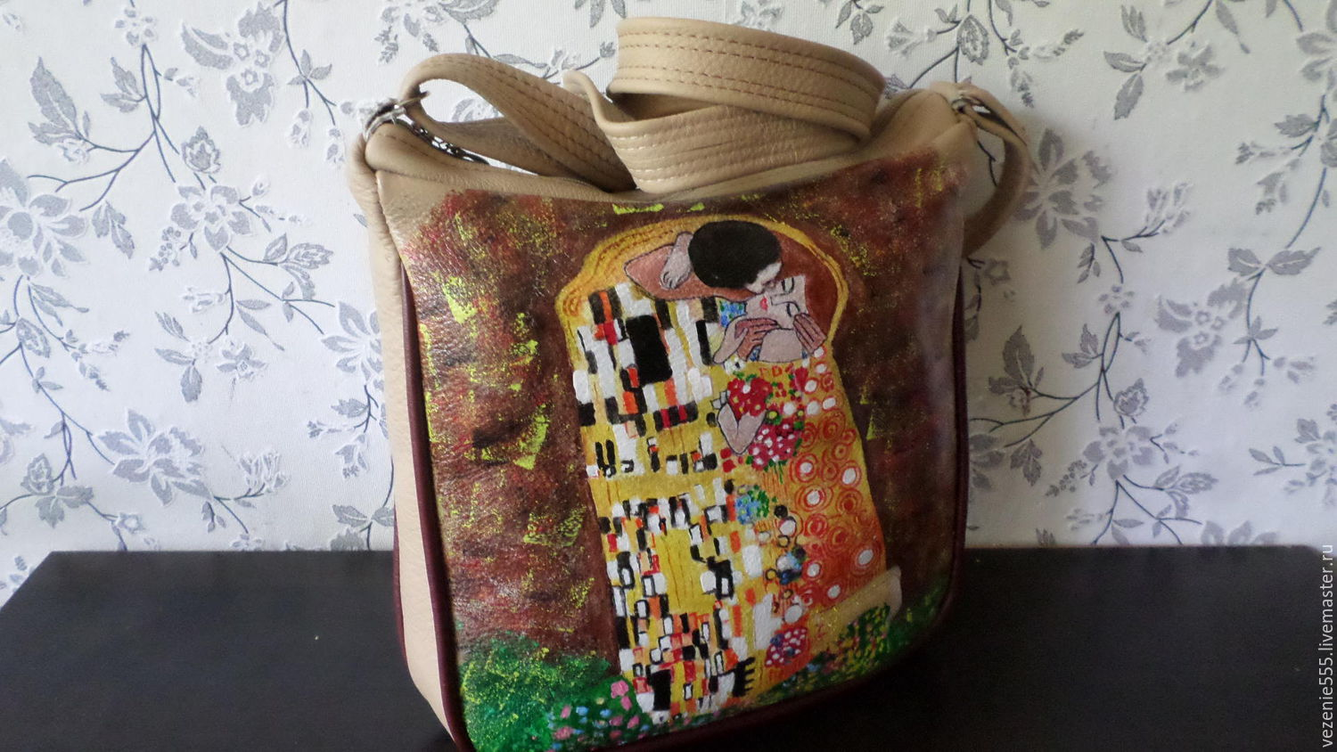 Leather bag based on the painting by G. Klimt the Kiss, Classic Bag, Noginsk,  Фото №1