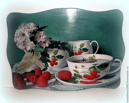 """Кухня ручной работы. Ярмарка Мастеров - ручная работа. Купить Панно """"Чай с малиной"""". Handmade. Панно на стену, декоративное панно"""
