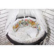 Бортики в кроватку ручной работы. Ярмарка Мастеров - ручная работа Бортики в кроватку на заказ. Handmade.