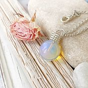 Украшения handmade. Livemaster - original item Moonstone pendant on a chain - light pendant with stone. Handmade.