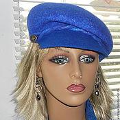 Аксессуары handmade. Livemaster - original item Felted hat Ultramarine.. Handmade.