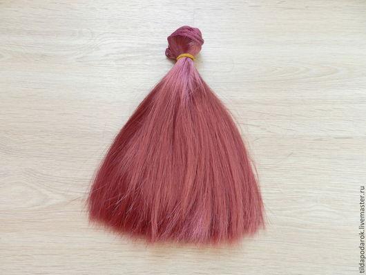 """Куклы и игрушки ручной работы. Ярмарка Мастеров - ручная работа. Купить Волосы для кукол """"Брусничные"""", трессы. Handmade. Волосы, трессы"""