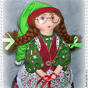 Куклы и игрушки ручной работы. Ярмарка Мастеров - ручная работа Кукла. Гномочка с колокольчиком. Handmade.