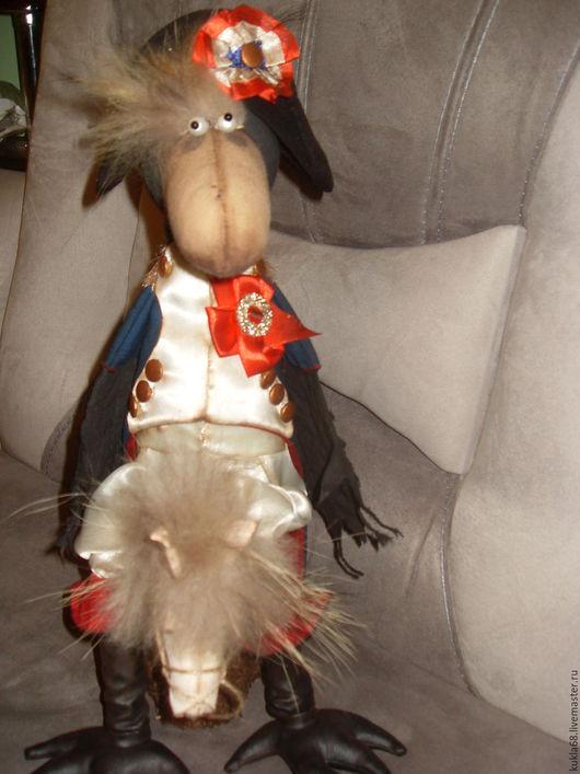 Коллекционные куклы ручной работы. Ярмарка Мастеров - ручная работа. Купить Ворон Наполеон. Handmade. Ворон, любовь, благородный