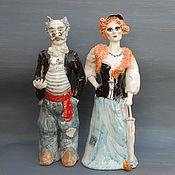Для дома и интерьера handmade. Livemaster - original item Alice Fox and cat Basilio. Figurines.. Handmade.