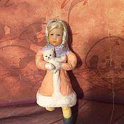 Куклы и игрушки ручной работы. Ярмарка Мастеров - ручная работа Ватная игрушка, Даша с собачкой. Handmade.
