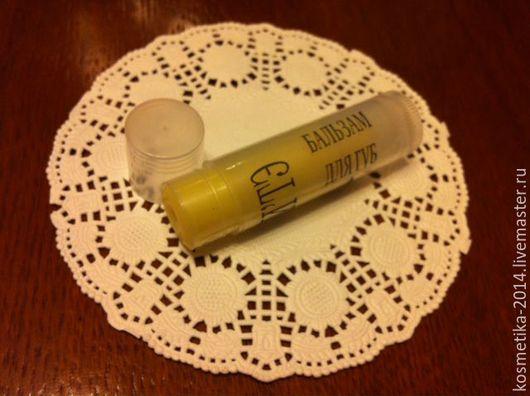"""Бальзам для губ ручной работы. Ярмарка Мастеров - ручная работа. Купить Бальзам для губ """"Мед с молоком"""". Handmade. Желтый"""