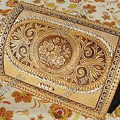 """Хлебницы ручной работы. Ярмарка Мастеров - ручная работа Хлебница из бересты """"Цветочный орнамент"""". Handmade."""