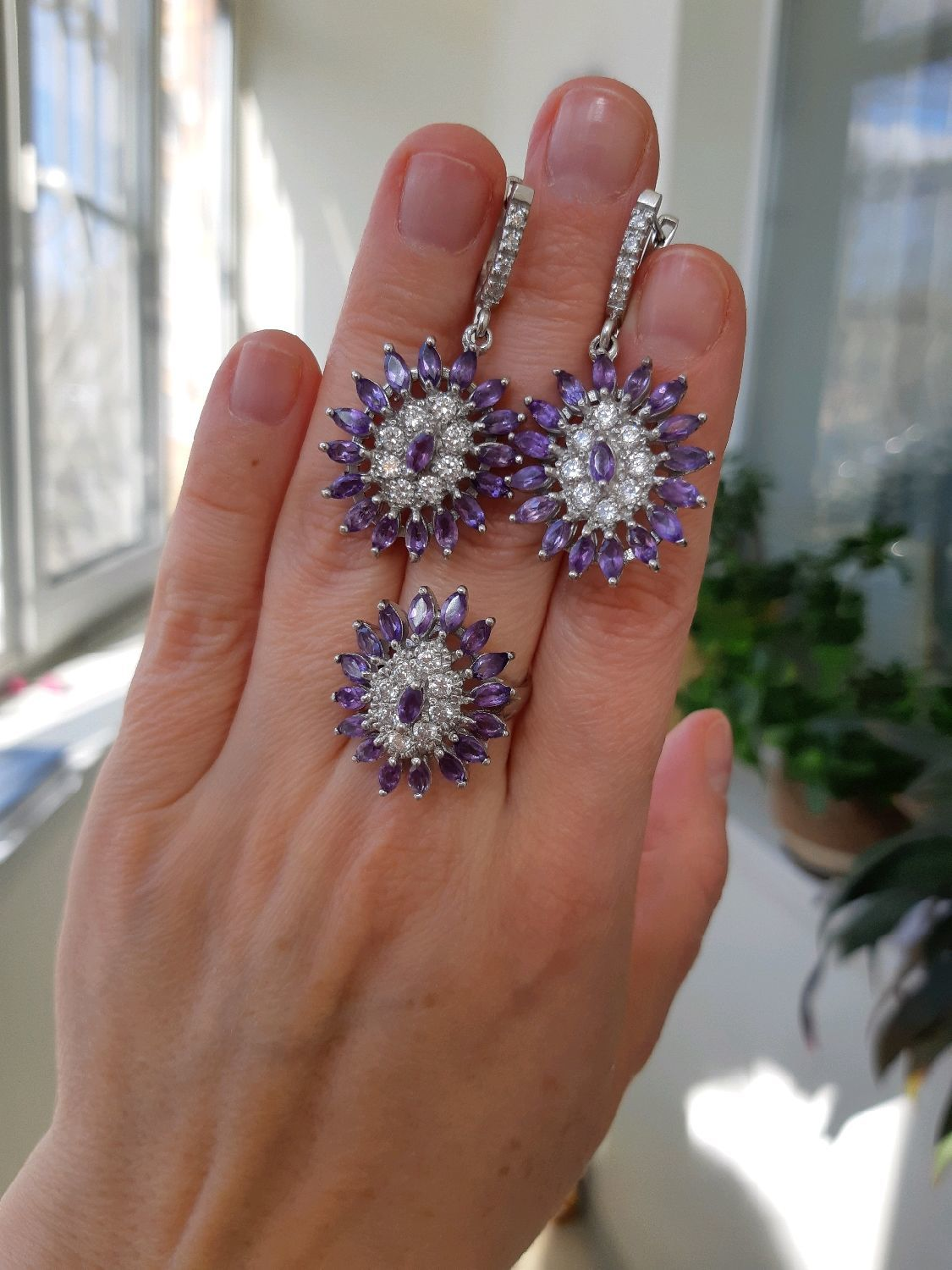 CHAROVNITSA-charming set with Uruguayan amethysts, Jewelry Sets, Moscow,  Фото №1