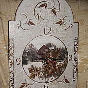 """Для дома и интерьера ручной работы. Ярмарка Мастеров - ручная работа Часы """"Зимний сад"""". Handmade."""