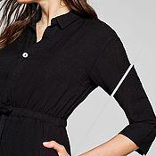 Одежда handmade. Livemaster - original item Black organic cotton shirt dress. Handmade.