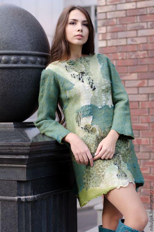 Платья ручной работы. Ярмарка Мастеров - ручная работа. Купить Туника валяная Сафари. Handmade. Разноцветный, эксклюзивная одежда, nora