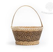 Для дома и интерьера handmade. Livemaster - original item Birch-bark basket