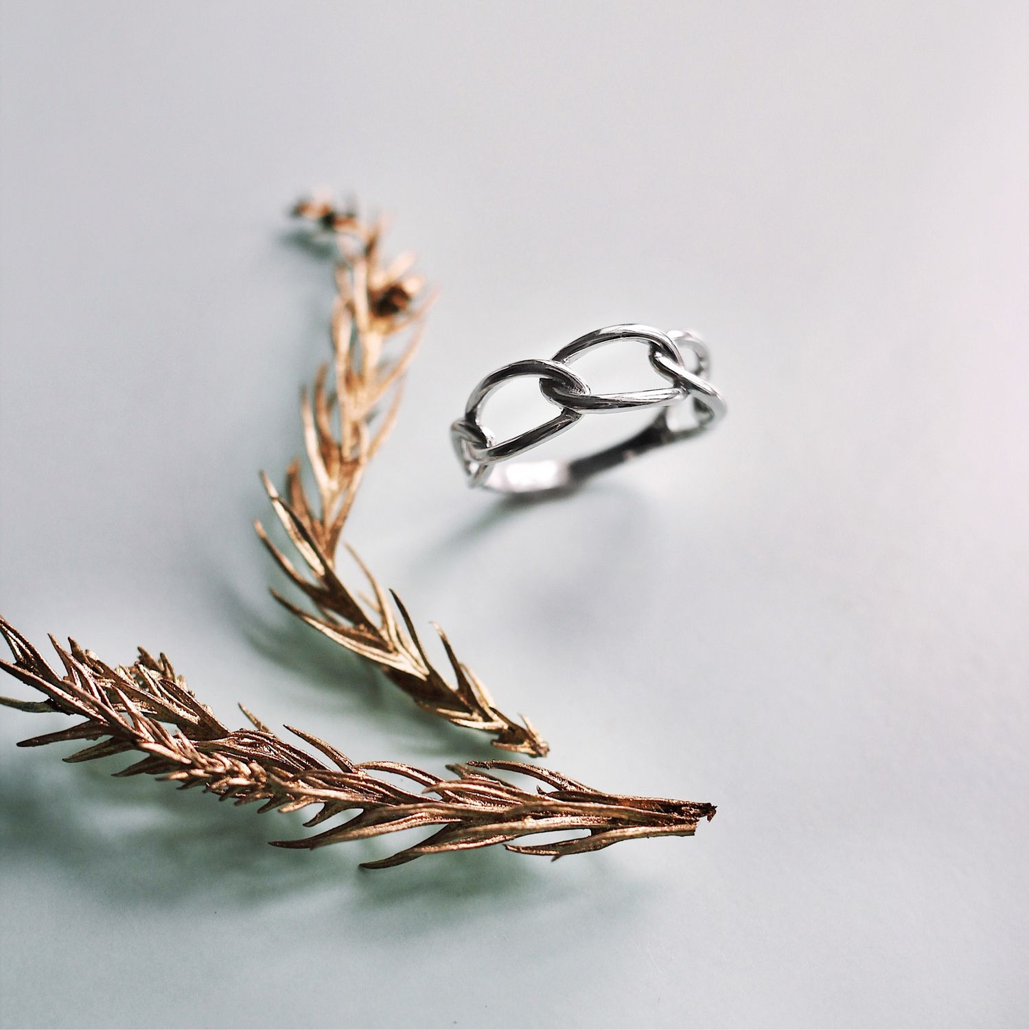 Ring in the form of a chain made of silver, Rings, Kostroma,  Фото №1