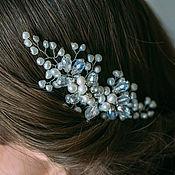 Свадебный салон handmade. Livemaster - original item Bridal comb. Freshwater pearls with crystals.. Handmade.