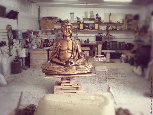 """Элементы интерьера ручной работы. Ярмарка Мастеров - ручная работа. Купить Скульптура """"Будда"""". Handmade. Скульптура, буддизм, гипсовые скульптуры"""