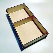 Коробки ручной работы. Ярмарка Мастеров - ручная работа Коробка с ячейками из фанеры BOX-150-50-2x1. Handmade.