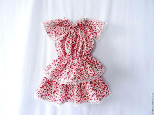 Одежда для девочек, ручной работы. Ярмарка Мастеров - ручная работа. Купить Блузка+юбка из хлопка. Handmade. Комбинированный, миль флёр, отдых
