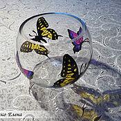 """Для дома и интерьера ручной работы. Ярмарка Мастеров - ручная работа Ваза """"Бабочки"""". Handmade."""