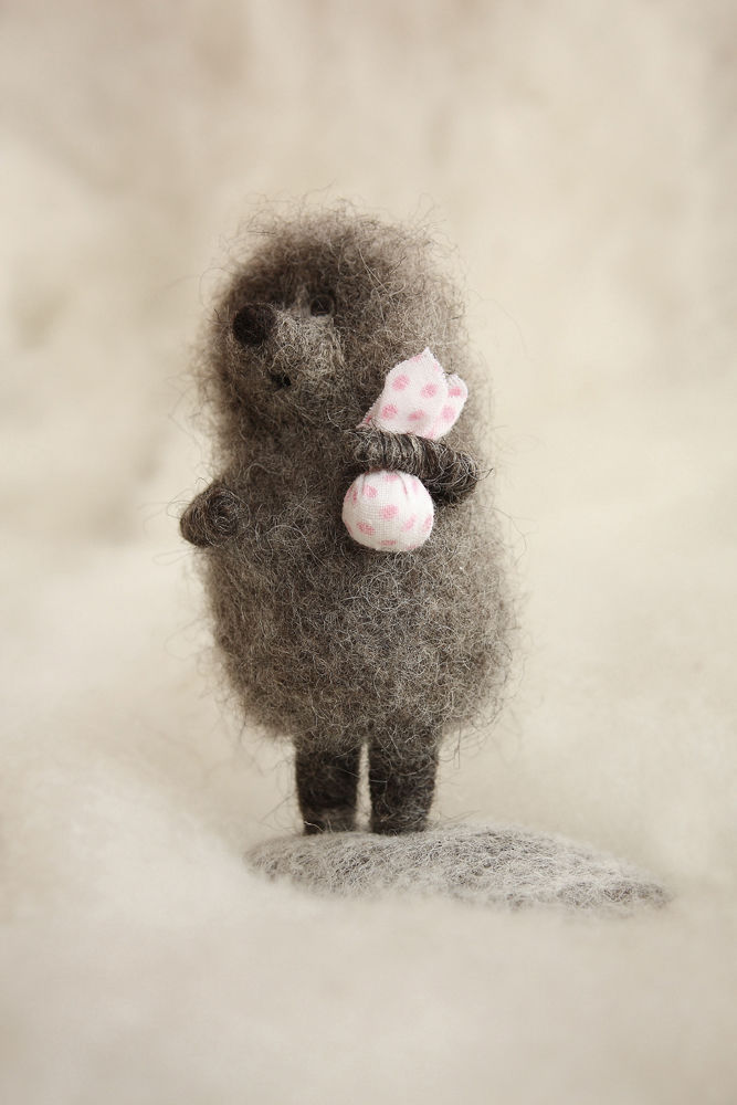 """""""Hedgehog in the fog"""", Felted Toy, Moscow,  Фото №1"""