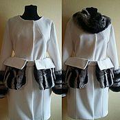 Одежда handmade. Livemaster - original item White coat with fur. Handmade.