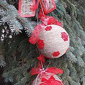 Подарки к праздникам ручной работы. Ярмарка Мастеров - ручная работа Новогоднее украшение Шарики-гроздь. Handmade.