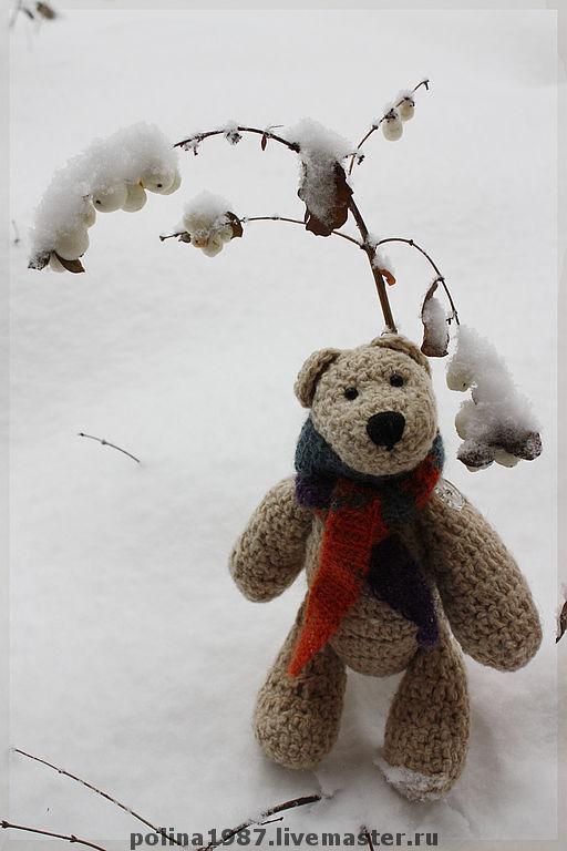 """Игрушки животные, ручной работы. Ярмарка Мастеров - ручная работа. Купить Медведь белый """"СНежок"""". Handmade. Подарок  на новый год, медведь"""