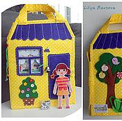 Stuffed Toys handmade. Livemaster - original item Handbag-house of dolls. Handmade.